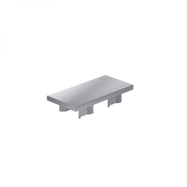 Endkappe 80x40 aus silbergrauem Kunststoff für mk Profile 40x80
