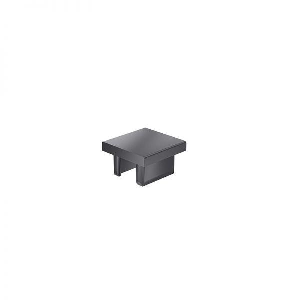 Endkappe 30x30 aus schwarzem Kunststoff für mk Profil 2030