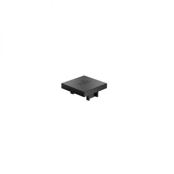 Endkappe 25x25 aus schwarzem Kunststoff für Profil mk 2025.01