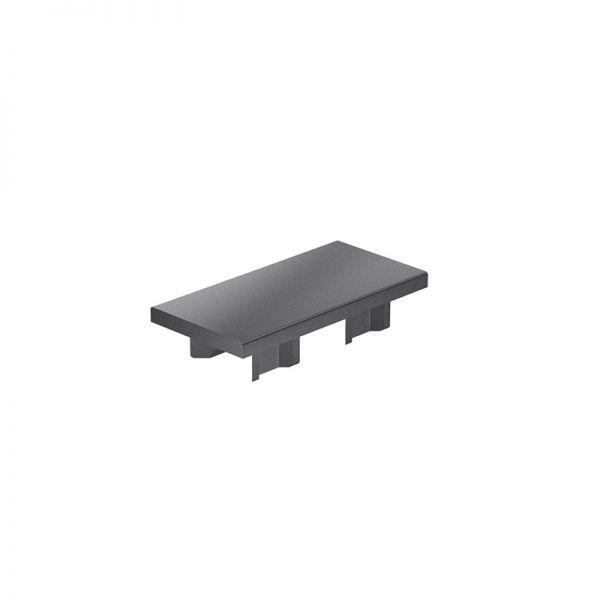 Endkappe 80x40 aus schwarzem Kunststoff für mk Profile 40x80