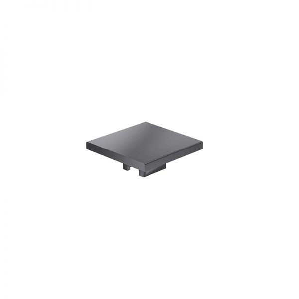 Endkappe 50x50 aus schwarzem Kunststoff für mk Profile 50x50
