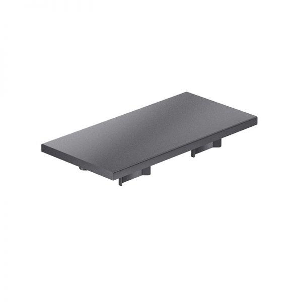Endkappe 120x60 aus schwarzem Kunststoff für mk Profil 2060.02