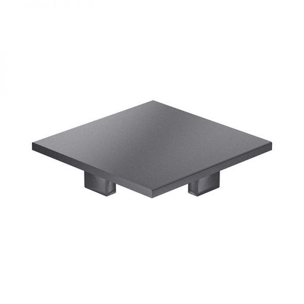 Endkappe 100x100 aus schwarzem Kunststoff für mk Profile 100x100