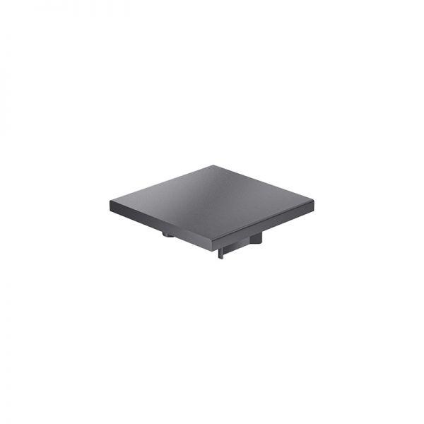 Endkappe 60x60 aus schwarzem Kunststoff für mk Profil 2060.01