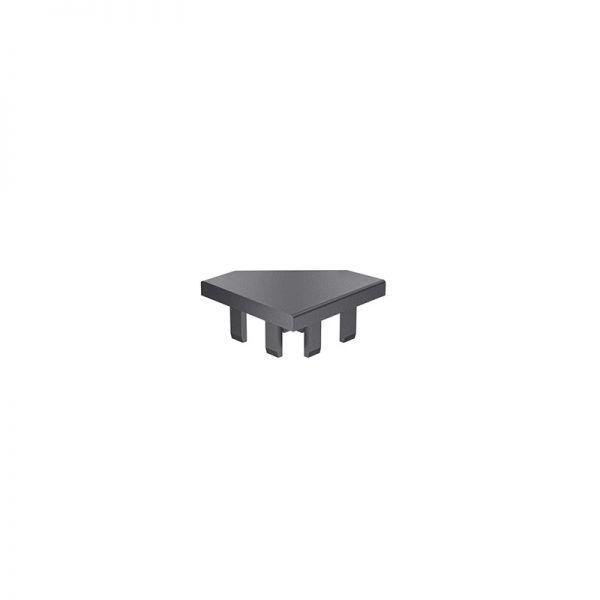 Endkappe 40x40 aus schwarzem Kunststoff für mk Profil 2040.14