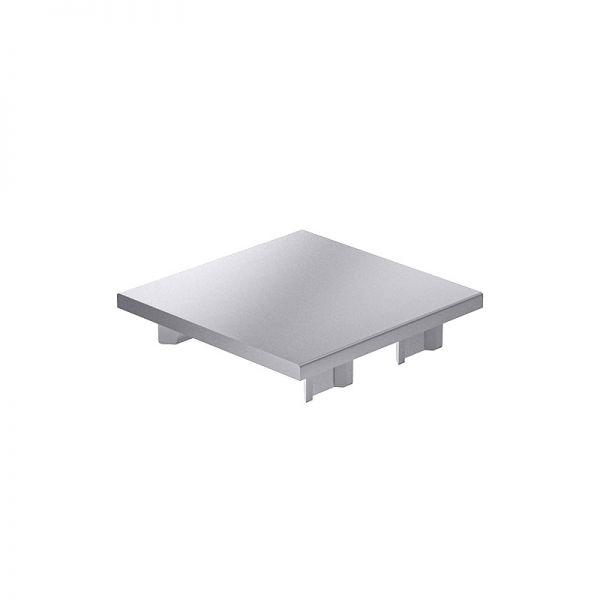 Endkappe 80x80 aus silbergrauem Kunststoff für mk Profile 80x80