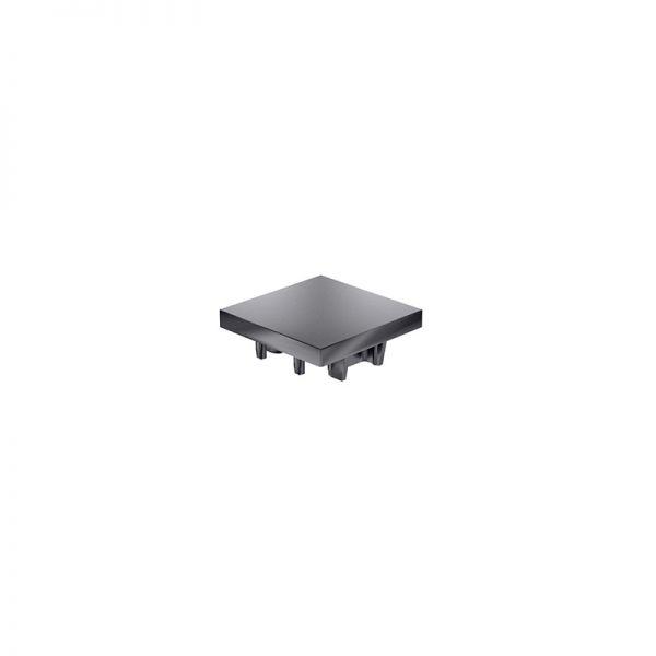 Endkappe 40x40 aus schwarzem Kunststoff für mk Profile 40x40