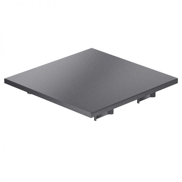 Endkappe 120x120 aus schwarzem Kunststoff für mk Profil 2060.05