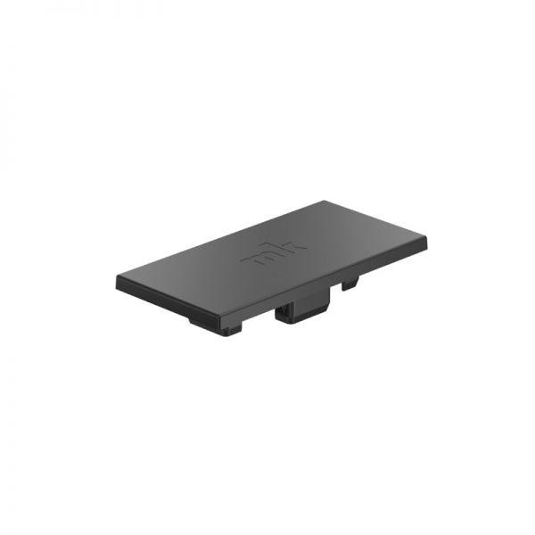 Endkappe 100x50 aus schwarzem Kunststoff für mk Profil 2004
