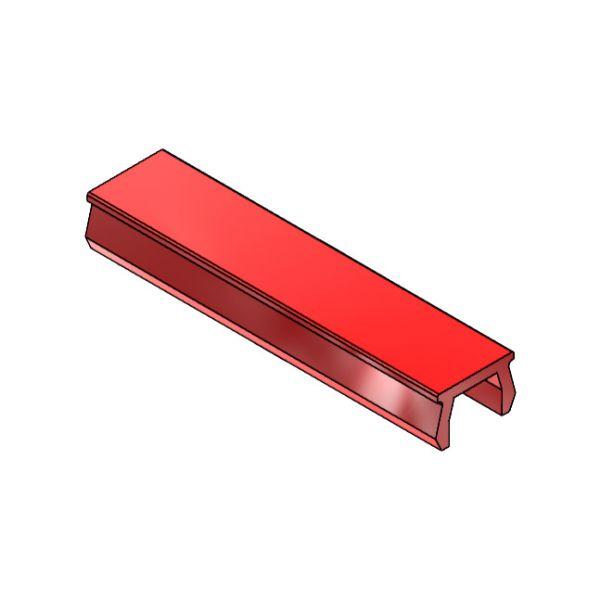 Verschlussprofil mk 3017, rot