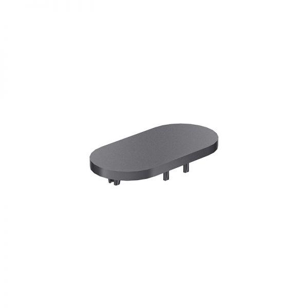 Endkappe 80x40 aus schwarzem Kunststoff für Profil mk 2040.23