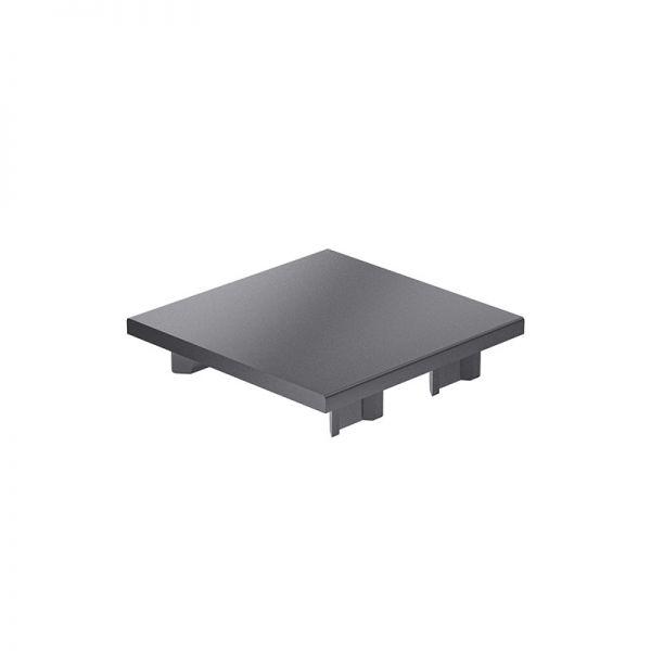 Endkappe 80x80 aus schwarzem Kunststoff für mk Profile 80x80