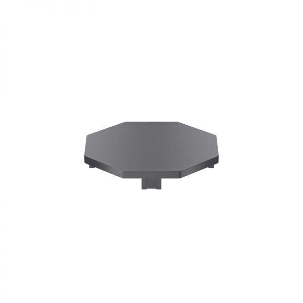 Endkappe 70x70 aus schwarzem Kunststoff für Profil mk 2025.21